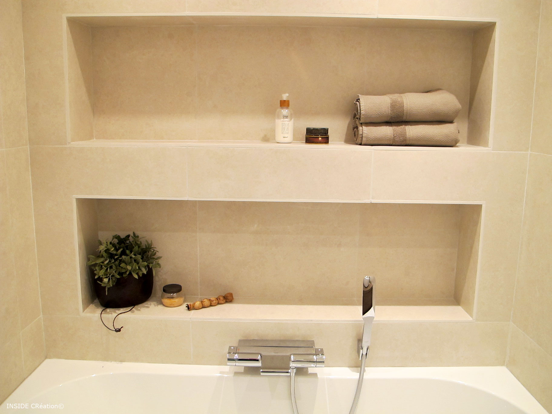 Inside cr ation r novation salle d 39 eau - Wedi salle de bain ...